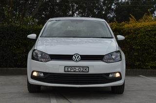 2014 Volkswagen Polo 6R MY15 66TSI DSG Trendline White 7 Speed Sports Automatic Dual Clutch.