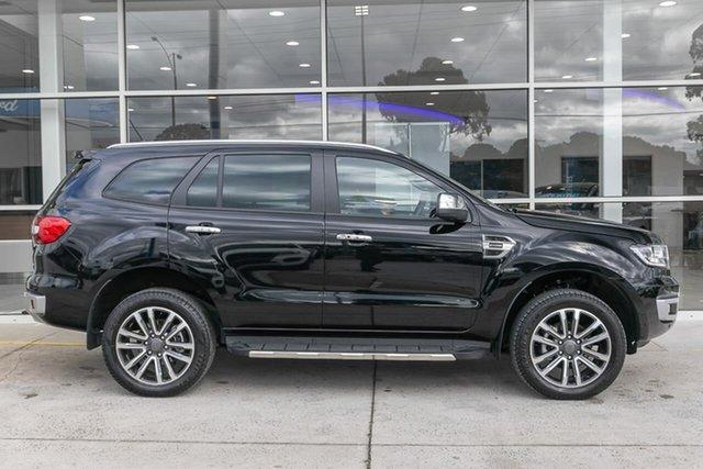 Used Ford Everest UA II 2020.25MY Titanium Ferntree Gully, 2020 Ford Everest UA II 2020.25MY Titanium Black 10 Speed Sports Automatic SUV