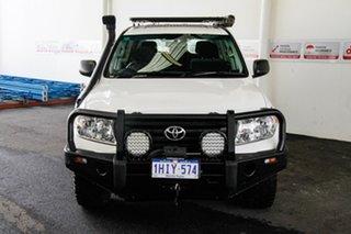 2015 Toyota Landcruiser VDJ200R MY13 GX (4x4) Glacier White 6 Speed Automatic Wagon.