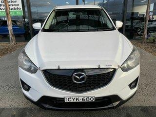 2012 Mazda CX-5 Maxx Sport (4x4) White 6 Speed Automatic Wagon.