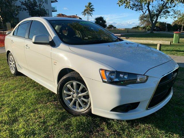 Used Mitsubishi Lancer CJ MY12 Activ Tugun, 2012 Mitsubishi Lancer CJ MY12 Activ White 6 Speed Constant Variable Sedan