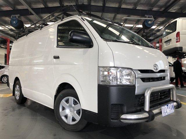 Pre-Owned Toyota HiAce KDH201R MY16 LWB Oakleigh, 2017 Toyota HiAce KDH201R MY16 LWB French Vanilla 5 Speed Manual Van