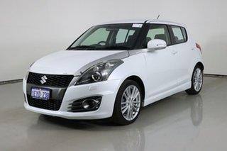 2013 Suzuki Swift FZ MY13 Sport White 6 Speed Manual Hatchback.