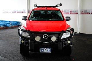 2016 Mazda BT-50 MY16 XT (4x4) Red 6 Speed Automatic Dual Cab Utility.