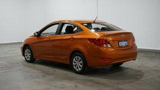 2015 Hyundai Accent RB3 MY16 Active Orange 6 Speed Constant Variable Sedan.