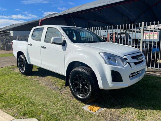 Used Isuzu D-MAX TF MY18 SX (4x4) Toowoomba, 2018 Isuzu D-MAX TF MY18 SX (4x4) White 6 Speed Automatic Crew Cab Chassis