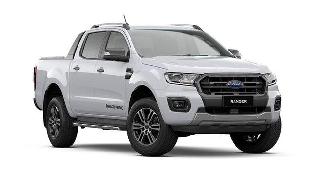 New Ford Ranger Wildtrak Hamilton, 2021 Ford Ranger PX MkIII Wildtrak Arctic White 10 Speed Automatic Pick Up