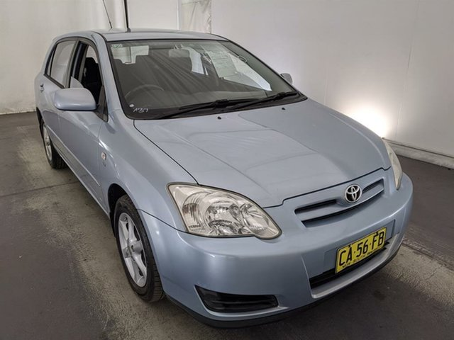 Used Toyota Corolla ZZE122R Ascent Maryville, 2004 Toyota Corolla ZZE122R Ascent Blue 4 Speed Automatic Hatchback