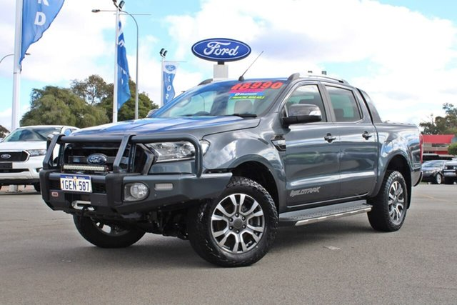 Used Ford Ranger PX MkII Wildtrak Double Cab Midland, 2016 Ford Ranger PX MkII Wildtrak Double Cab Grey 6 Speed Manual Utility