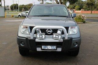 2010 Nissan Navara D40 ST (4x4) Grey 6 Speed Manual Dual Cab Pick-up.