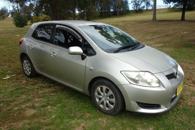 Used Toyota Corolla ZRE152R Ascent East Maitland, 2007 Toyota Corolla ZRE152R Ascent Silver, Chrome 4 Speed Automatic Hatchback