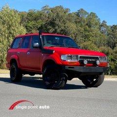 1990 Toyota Landcruiser HDJ80R Red.