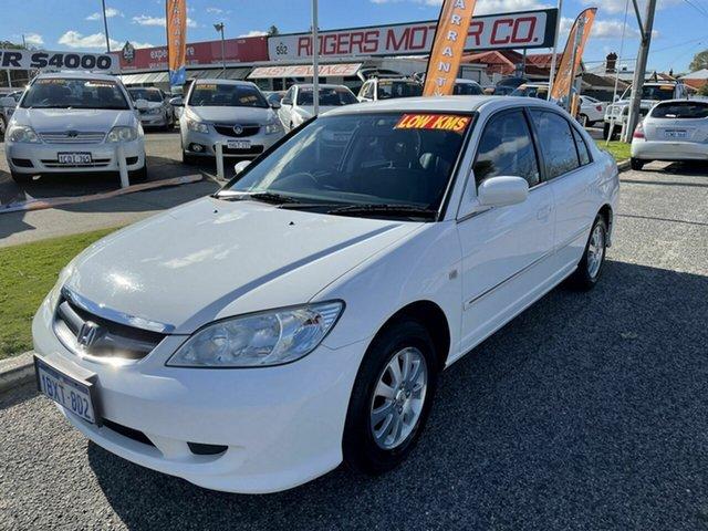 Used Honda Civic 7th Gen GLi Victoria Park, 2005 Honda Civic 7th Gen GLi White 4 Speed Automatic Sedan