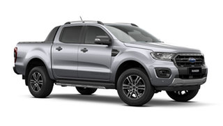 2021 Ford Ranger PX MkIII Wildtrak Aluminium Silver 10 Speed Automatic Double Cab Pick Up.