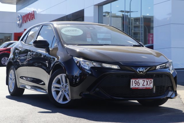 Pre-Owned Toyota Corolla Mzea12R Ascent Sport Woolloongabba, 2020 Toyota Corolla Mzea12R Ascent Sport Black 10 Speed Constant Variable Hatchback