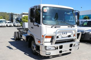 2015 Nissan UD White Automatic Cab Chassis.