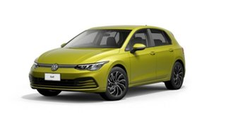 2021 Volkswagen Golf 8 MY21 110TSI Life Yellow 8 Speed Sports Automatic Hatchback.