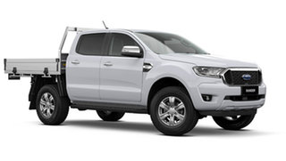 2021 Ford Ranger PX MkIII XLT Double Cab Chassis Arctic White 6 Speed Automatic Pick Up.