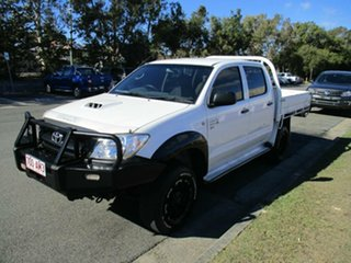 2009 Toyota Hilux KUN26R MY10 SR White 5 Speed Manual Cab Chassis