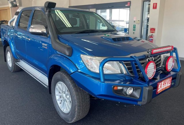 Used Toyota Hilux KUN26R MY12 SR5 Double Cab Winnellie, 2013 Toyota Hilux KUN26R MY12 SR5 Double Cab Blue 4 Speed Automatic Utility