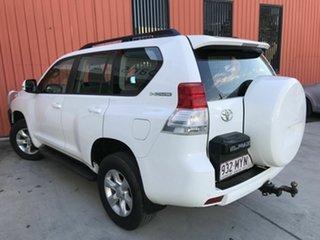 2010 Toyota Landcruiser Prado KDJ150R GXL White 5 Speed Sports Automatic Wagon.