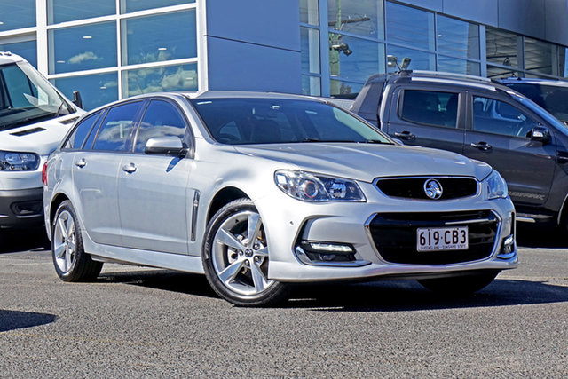 Used Holden Commodore VF II MY16 SV6 Sportwagon Springwood, 2015 Holden Commodore VF II MY16 SV6 Sportwagon Silver 6 Speed Sports Automatic Wagon