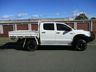 2009 Toyota Hilux KUN26R MY10 SR White 5 Speed Manual Cab Chassis.