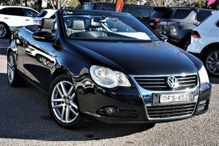 2010 Volkswagen EOS 1F MY11 155TSI DSG Black 6 Speed Sports Automatic Dual Clutch Convertible.