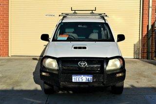 2006 Toyota Hilux KUN16R MY05 SR 4x2 White 5 Speed Manual Utility.