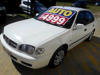 2000 Toyota Corolla AE112R Ascent Seca White 4 Speed Automatic Liftback.