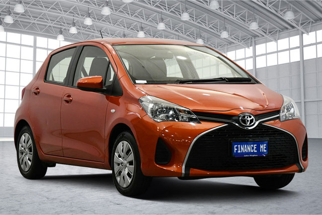 Used Toyota Yaris NCP130R Ascent Victoria Park, 2016 Toyota Yaris NCP130R Ascent Orange 4 Speed Automatic Hatchback
