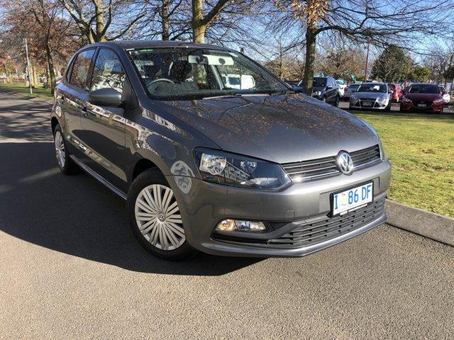 Used Volkswagen Polo 6R MY16 66TSI Trendline Launceston, 2016 Volkswagen Polo 6R MY16 66TSI Trendline Gun Metallic 5 Speed Manual Hatchback