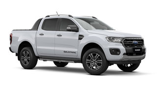 2021 Ford Ranger PX MkIII Wildtrak Arctic White 10 Speed Automatic Pick Up.