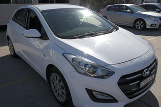 2015 Hyundai i30 GD3 Series II MY16 Active White 6 Speed Sports Automatic Hatchback.