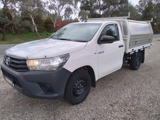 2017 Toyota Hilux GUN122R Workmate 4x2 White 5 Speed Manual Cab Chassis.