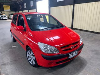 2007 Hyundai Getz TB Upgrade SX Red 4 Speed Automatic Hatchback.