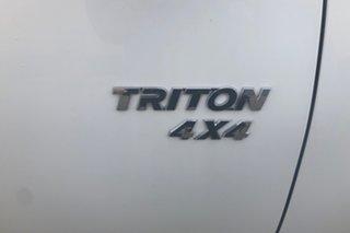 2010 Mitsubishi Triton MN MY10 GLX White 5 Speed Manual Cab Chassis
