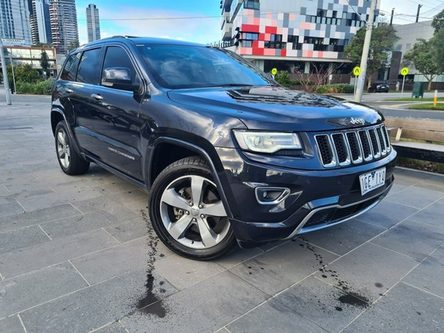 Used Jeep Grand Cherokee WK MY2014 Overland South Melbourne, 2013 Jeep Grand Cherokee WK MY2014 Overland Grey 8 Speed Sports Automatic Wagon