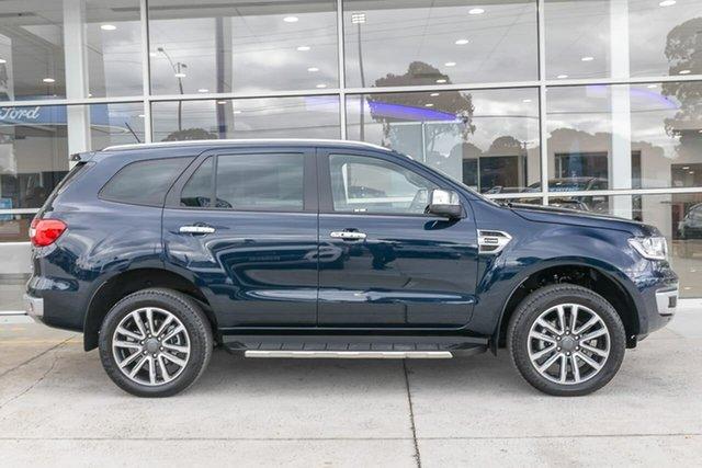 Used Ford Everest UA II 2020.25MY Titanium Ferntree Gully, 2020 Ford Everest UA II 2020.25MY Titanium Blue 10 Speed Sports Automatic SUV