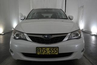 2009 Subaru Impreza G3 MY09 RX AWD White 4 Speed Sports Automatic Hatchback.