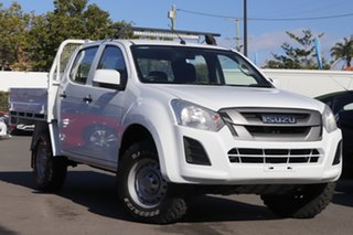 2018 Isuzu D-MAX MY18 SX Crew Cab White 6 Speed Sports Automatic Utility.