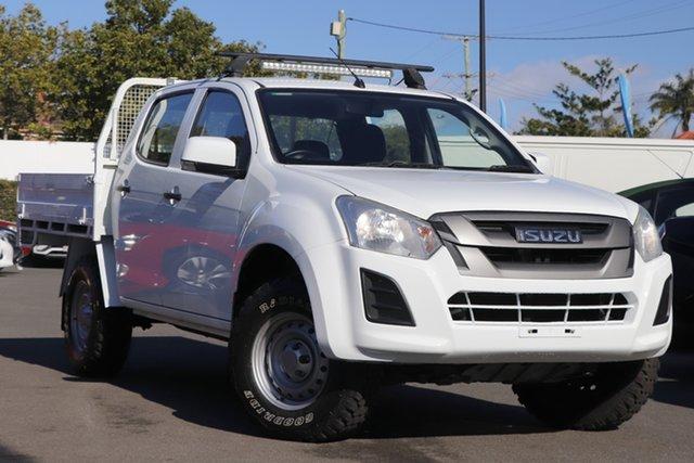 Used Isuzu D-MAX MY18 SX Crew Cab Mount Gravatt, 2018 Isuzu D-MAX MY18 SX Crew Cab White 6 Speed Sports Automatic Utility