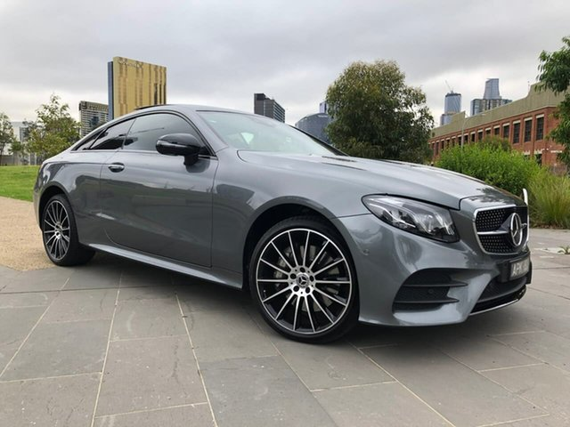 Used Mercedes-Benz E-Class C238 E300 9G-Tronic PLUS South Melbourne, 2017 Mercedes-Benz E-Class C238 E300 9G-Tronic PLUS Grey 9 Speed Sports Automatic Coupe