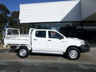 2015 Toyota Hilux KUN26R MY14 SR (4x4) Glacier White 5 Speed Automatic Dual Cab Pick-up