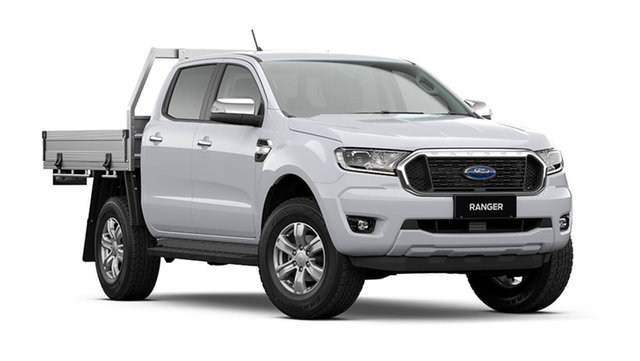 New Ford Ranger Hamilton, 2021 Ford Ranger PX MkIII XLT Double Cab Chassis Arctic White 6 Speed Automatic Pick Up