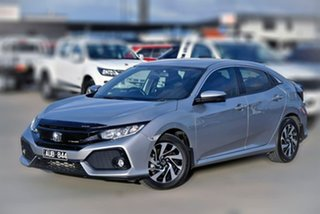 2018 Honda Civic 10th Gen MY18 VTi-S Silver 1 Speed Constant Variable Hatchback.