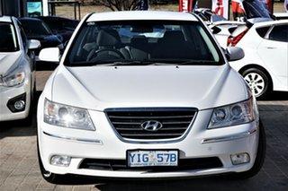 2009 Hyundai Sonata NF MY09 SLX White 5 Speed Automatic Sedan.
