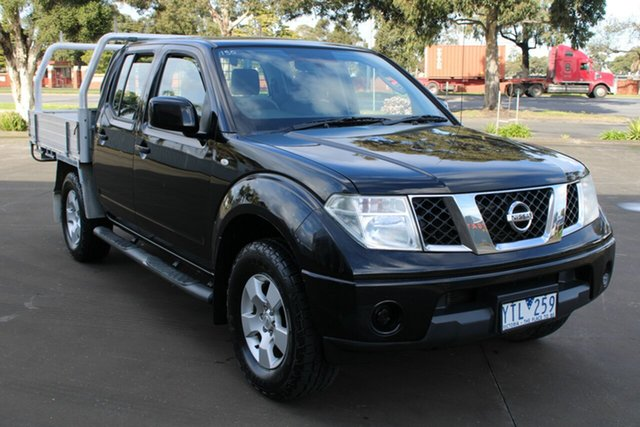 Used Nissan Navara D40 ST (4x4) West Footscray, 2011 Nissan Navara D40 ST (4x4) Black 5 Speed Automatic Dual Cab Pick-up