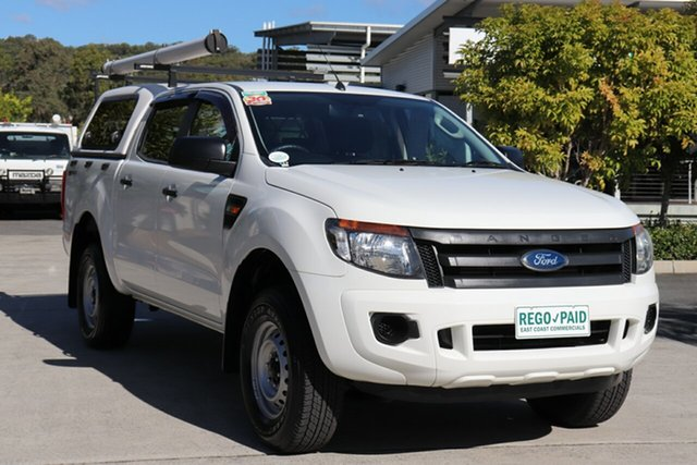 Used Ford Ranger PX XL Hi-Rider Robina, 2014 Ford Ranger PX XL Hi-Rider White 6 speed Automatic Utility
