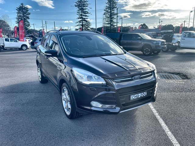 Pre-Owned Ford Kuga TF MY15 Titanium PwrShift AWD Cardiff, 2015 Ford Kuga TF MY15 Titanium PwrShift AWD Black 6 Speed Sports Automatic Dual Clutch Wagon